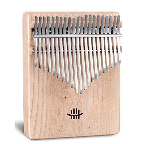 Tragbare Daumenklavier Kalimba 21-Ton Daumenklavier Tragbare Finger Klavier Solide Holzhammer Sticker Kit Calimba Thumb Musikinstrumente for Anfänger (Farbe: Nußbaum Holz) ( Color : Maple Wooden )