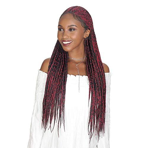 "Royal Sis Diva Lace Synthetic Fulani Box Pre-Braided Lace Front Wig DIVA-LACE FULANI BOX 30"" (4 [Medium Brown])"
