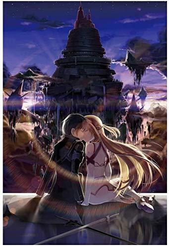 Sword Art Online Jigsaw Puzzle Anime Madera Jigsaw 1000 Piezas Adulto Regalo Creativo Descompresión Rompecabezas Educativo Niños Juguete Baifantastic