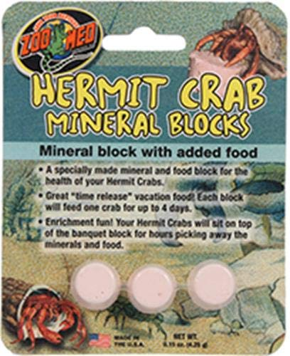 Zoo Med Hermit Crab Especially Made Mineral Block with Added Food Supplement