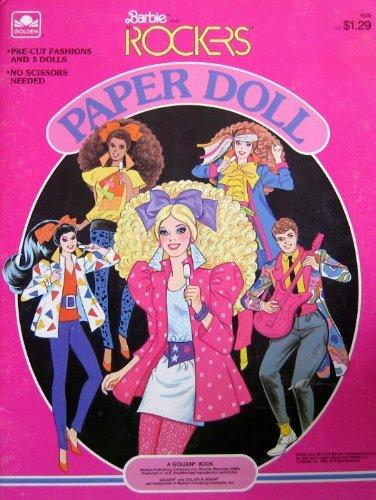 Barbie & The ROCKERS PAPER DOLL BOOK w Derek, Barbie, Dana, Dee & Diva Dolls (1986)