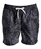 Kanu Surf Men's Monaco Swim Trunks, Palma Black, 2X