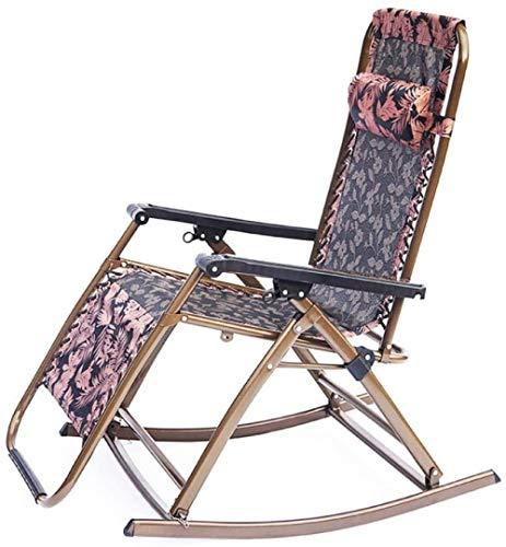 HZYDD Silla oscilante Plegable, Descanso del Almuerzo, sillón, sillón de Descanso al Aire Libre, a, a, Nombre de Color: a (Color : A)