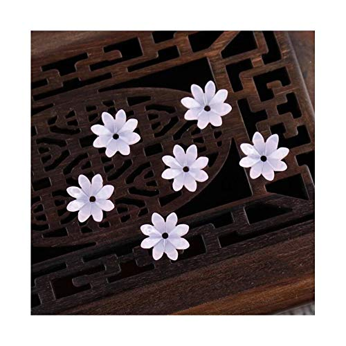 JINAN 50pcs/lot 9mm Resin Flower Beads Hair Clip Hairpinmaking Handmade Accessories Material Loose Beads With Hole (Color : Light pink)