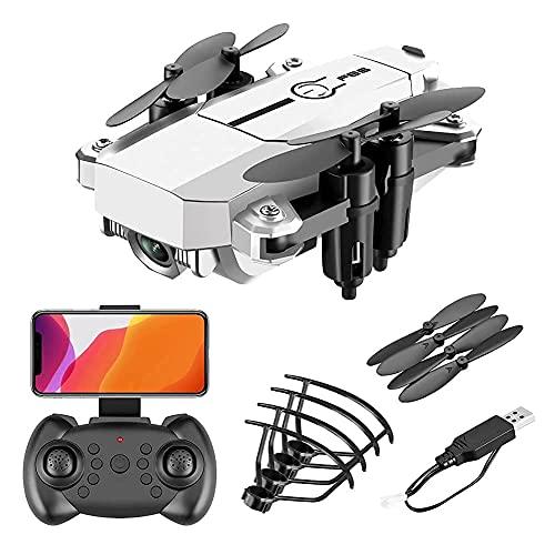 Drone con cámara Mini Drone plegable con cámara 4K HD FPV Wifi RC Quadcopter, control de gestos, trayectoria de vuelo, vuelo circular, rotación de alta velocidad, volteretas 3D, modo sin cabez