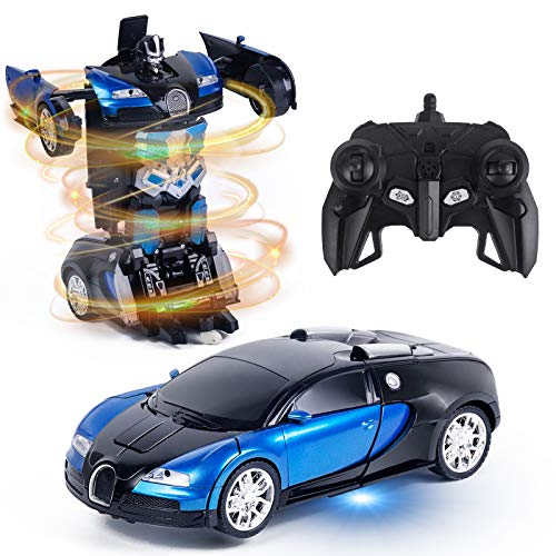 Vubkkty Remote Control Car with LED Lights, 5-10 Years Old Kids Deformation...