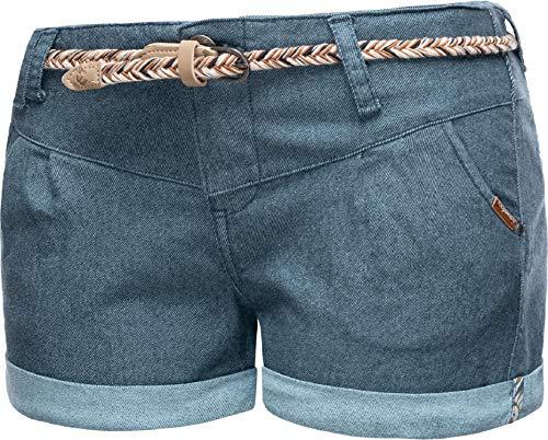Ragwear Damen Kurze Hose Bermuda Shorts Hotpants Sommerhose Heaven A Denim Blau20 Gr. 29