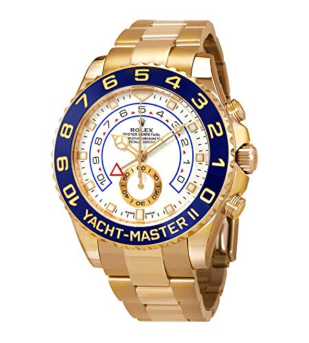 Rolex Yacht-Master II Automatic White Dial Men's 18kt Yellow Gold Oyster Watch 116688-0002