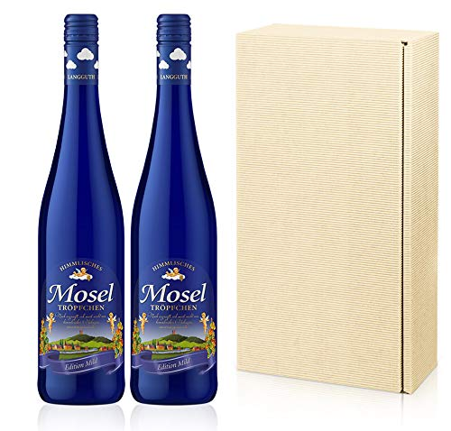 Himmlisches Moseltröpfchen Edition Mild Vegan 2er Geschenkset Lieblich (2 x 0.75 l)