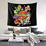Zbigtee Space Jam Decorative Wall Blanket Tapestries for Bedroom Living Room Dorm Decor 60' X 51'Inches Indoor Tapestries Vertical Version