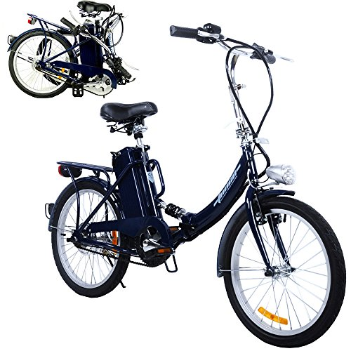 Bicicleta plegable para eléctrico, cravog Marco de Aluminio E-Bike Motor Central con...