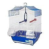 DZL- Jaula para pajaros con comederos(30X23X39CM) Jaula Pájaro Jaula para Canarios y pequeños pájaros (Aleatorio)