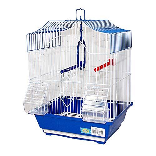 DZL- Gabbia per uccelli con mangiatoie (30 x 23 x 39 cm), gabbia per uccelli, per canarini e piccoli uccelli (casuale)