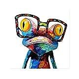 Yooyu Frosch Färbung Ölgemälde auf Leinwand Kunst Poster