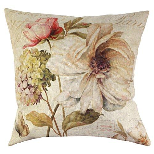 Funda de cojín almohada diseño Retro chendongdong con flor rosa flor