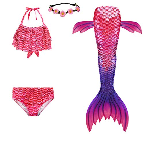 (40% OFF Coupon) Girls Mermaid Tail Swimsuit  $16.19
