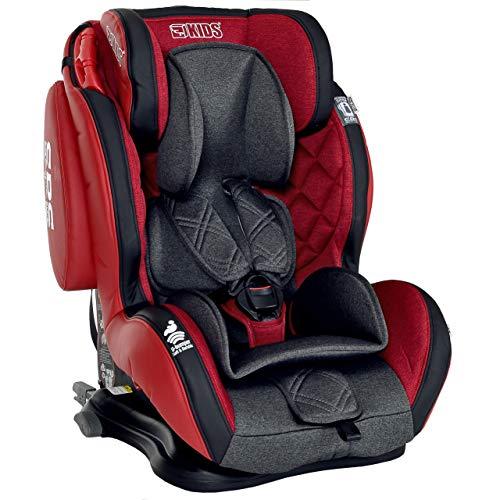 Seggiolino Auto Isofix 9-36 kg Bambini Gruppo 1 2 3 LCP Kids GT Comfort; Colore Rosso