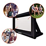 celexon inflatable outdoor projection screen incl. powerful pump - self-inflating Outdoor canvas...