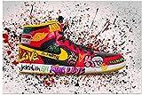 Sunsightly Carteles De Artes Decorativas, Zapatillas Clásicas De Graffiti, Carteles De Lona, Pintura Abstracta De Arte Callejero Pop Moderno, Cuadros De Pared De Zapatillas, Sin Marco