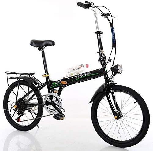 20in 7 Speed Leisure City Bike Folding Mini Compact Bicycle Urban Commuters