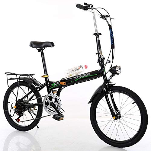 TiKingAn Folding Bike,20inch 7 Speed Portable Bikes,Double Disc Brake Mountain Bicycle Urban Commuters for Adult Teens,Stock US
