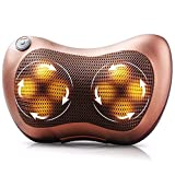 SUHAV Electronic Neck Cushion Full Body Massager with Heat for pain relief Massage Machine for Neck Back Shoulder Pillow Massager - Swiss Relaxation therapy (Brown)
