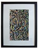 Enmarcado y montado abadejo, gótico por Jackson Pollock - 20' x 16' - Parte de la cartera Taschen lanzado en 2006