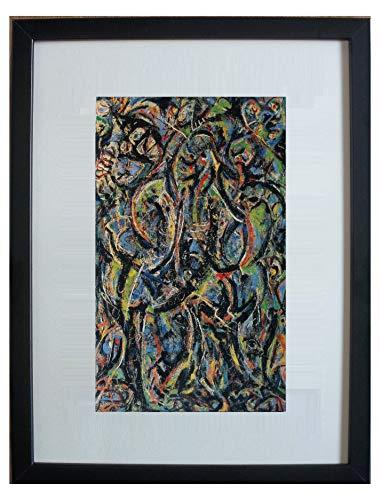 """Enmarcado y montado abadejo, gótico por Jackson Pollock - 20"""" x 16"""" - Parte de la cartera Taschen lanzado en 2006"""