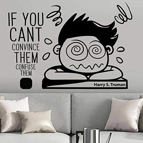 fdgdfgd Lustige Wandtattoos verwirren sie Motivation Zitat Vinyl Fenster Aufkleber Kunst Teen Kinder Schlafzimmer Studie Wohnkultur 57x81 cm