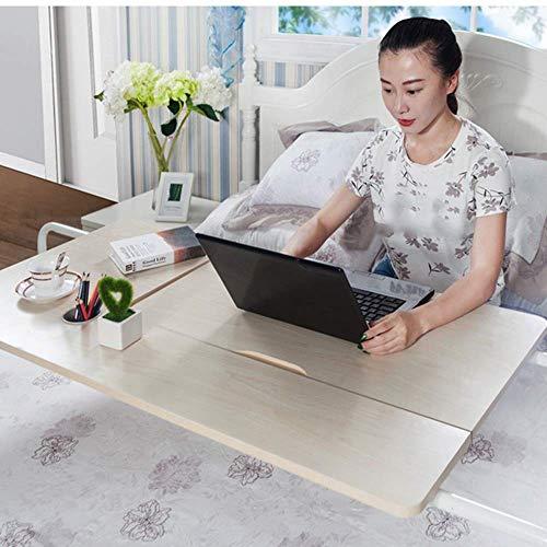 Klaptafel verstelbaar eenvoudig beweegbaar nachtkastje desktop leercomputertafel 2 kleuren optionele grootte kan worden gedraaid (kleur: teakkleur, grootte: 600 * 800mm) 600 * 800mm Teak Color