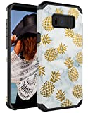 CASY MALL Dual Layer Heavy Duty Hybrid PC+TPU Protect Case for Samsung Galaxy S8 2017 Release Pineapple Black