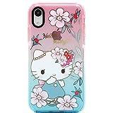 MC Fashion iPhone XR Hülle, Cute Cartoon Hello Kitty Transparent Hülle Ganzkörper Slim Fit Protective Soft TPU Hülle für Apple iPhone XR 6.1 Zoll