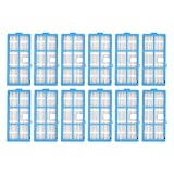 XIAO YANG Piezas de aspiradora Paquete de 12 HEPA Filtes encajan para Goovi 160 0PA, YO Martine C800 D900 D900C, Deenkee DK600, Bagotte BG600 Robot aspiradora Cocina (Color : Blauw)