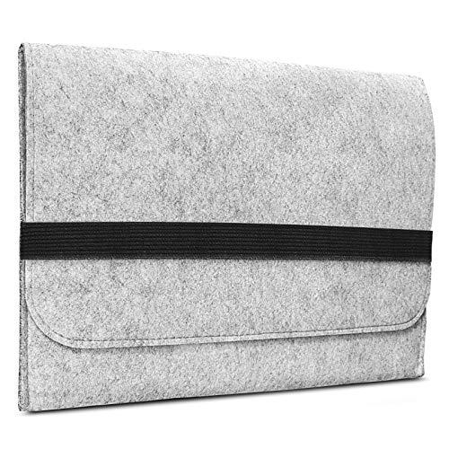 ROYALZ Filz Sleeve Cover für Lenovo IdeaPad Flex 5i Schutzhülle (2020) 14 Zoll Schutz Tasche Design Hülle Hülle, Farbe:Grau