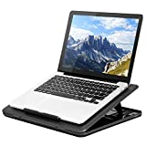 LapGear Commuter Laptop Stand - Padded Lap Desk with 20 Adjustable Angles - Black - Fits Up to 15.6 Inch Laptops and Most Tablets - Style No. 49108
