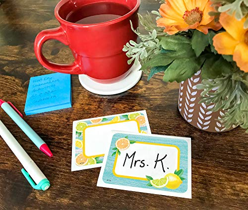 Teacher Created Resources Lemon Zest Name Tags/Labels - Multi-Pack (TCR8483) Photo #4