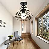 Lámpara de techo Retro Colgante Iluminación Industrial Moderna...