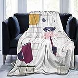 QIUTIANXIU Mantas para Sofás de Franela 150x200cm Animal Funny Llama Cepillar Dientes Manta para Cama Extra Suave