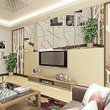 LISRUI 7 Unids Patrón Moire Espejo Etiqueta de la Pared, Pegatinas de Pared Mural DIY para la Sala de Estar, casa Moderna calcomanías de Pared Decorativos
