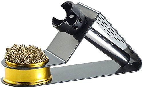 AGT - Support compact pour fer à souder - Avec éponge métallique
