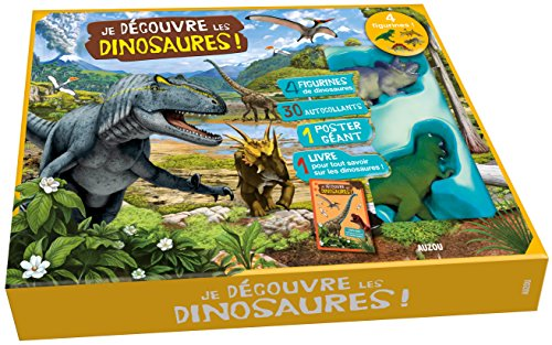 Je découvre les dinosaures - Coffret documentaire + 4 Figurines