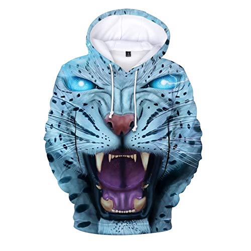 XIANGAI Hoodies Männer Pullover Übergroße Körper Streetwear Moletom Männlich Bunte Cheetah 3D Sweatshirts Hooded Hoodie Sudaderas