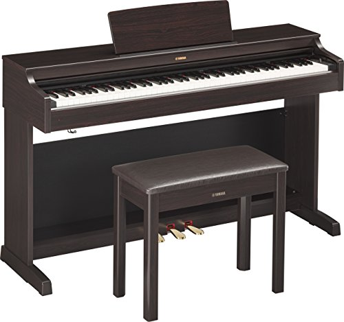 Yamaha YDP 163R Arius Series Console Digital Piano with Bench, Dark...