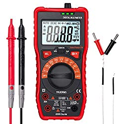 GSSUSA Digital Multimeter Voltage Tester TRMS 6000 Counts Voltmeter AC/DC Voltage Current Resistance Capacitance Frequency Temperature Diode Electrical Tester Auto-Ranging Fast Accurately Measures