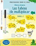 Libros pizarra - Las tablas de multiplicar NIVEL 2 (Practicando, todo es fácil - Libros pizarra)