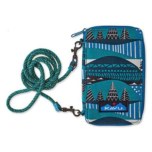 KAVU Go Time Bi-Fold Clutch Wallet with Crossbody Rope Strap - Winterscape