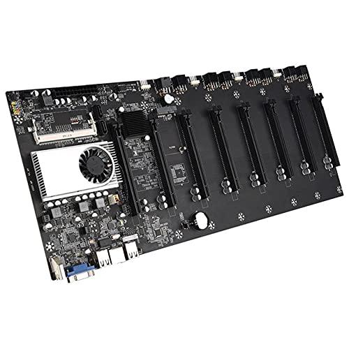 SHUI BTC-T37 Placa Base Minera, Procesador a Bordo CPU 1037U 8 Tarjeta De Gráficos Ranura DDR3 Memoria De La Memoria Portátil Interfaz VGA Consumo De Baja Potencia para L
