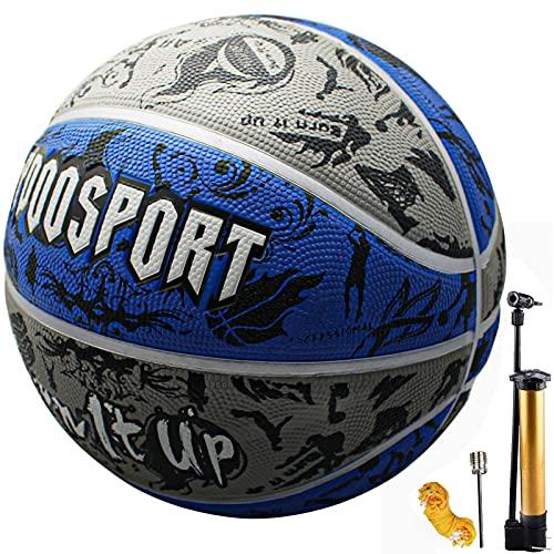 Senston Balon Baloncesto Talla 7 con Bomba, Adultas Niñas Balon Baloncesto Goma Pelota Baloncesto Indoor Outdoor Usar