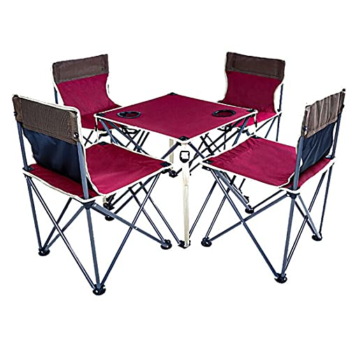 Juego de mesa y silla plegable para exteriores, silla con respaldo de...
