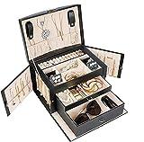 Procase Organizador de Joyas con 3 Capas, Caja Joyero para Anillos, Pendientes,...
